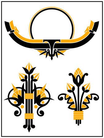 古美術品: アールデコのデザイン要素のコレクション