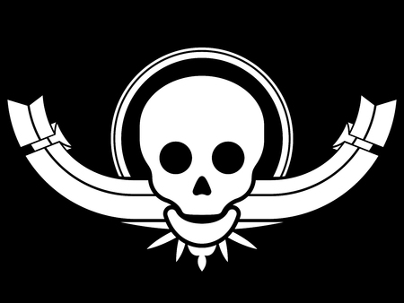 Skull design element with banner Vector