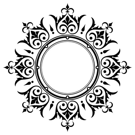 symmetrical design: Ornamental vintage border frame  Illustration