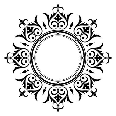 circle design: Ornamental vintage border frame  Illustration