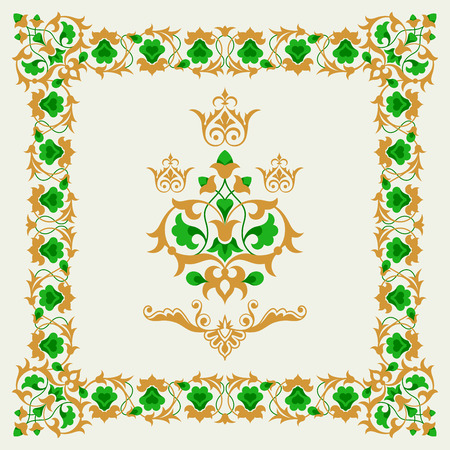floral border frame: Ornamental border frame design element collection Illustration