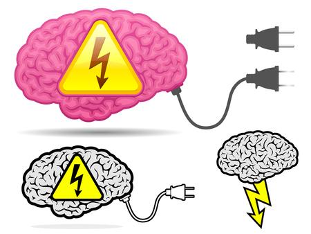 prise de courant: Collection de cerveau coltage �lev� avec connecteur Branchez