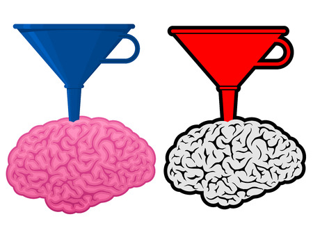 Brain with cone funnel Stock Vector - 7276227