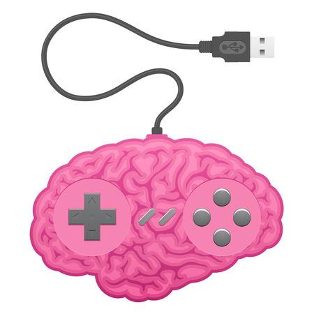 Brain computer game pad Stock Vector - 7276243