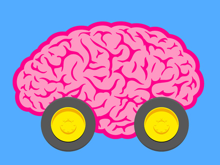 Fast brain on wheels Vector
