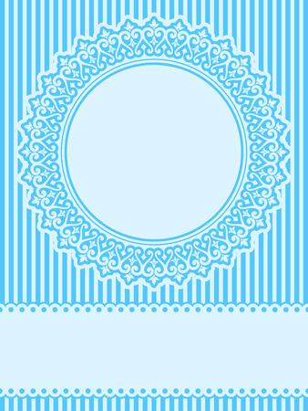 Blue lace design element greeting card Vector