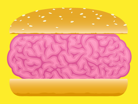 Brain food burger Stock Vector - 8192472