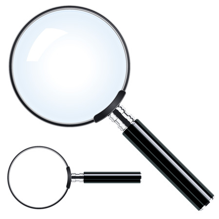 magnify glass: Magnifying glass Illustration