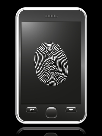 smart phone with touch-screen fingerprint Stock Vector - 8508860