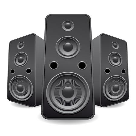 speaker set isolated Vector