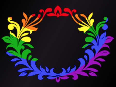 rainbow colour ornamental crest Stock Vector - 8927274