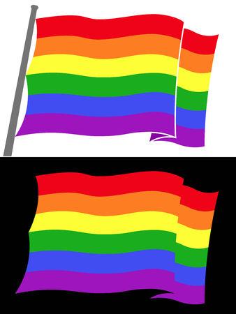 rainbow flag Stock Vector - 8927260