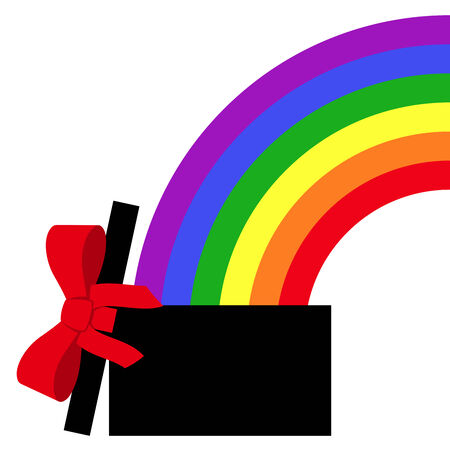 parcel with rainbow gift Stock Vector - 8927237