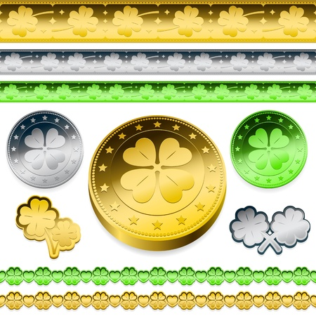 token: golden shamrock token coins set