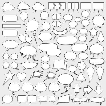 dialog balloon: huge cartoon speech bubble set