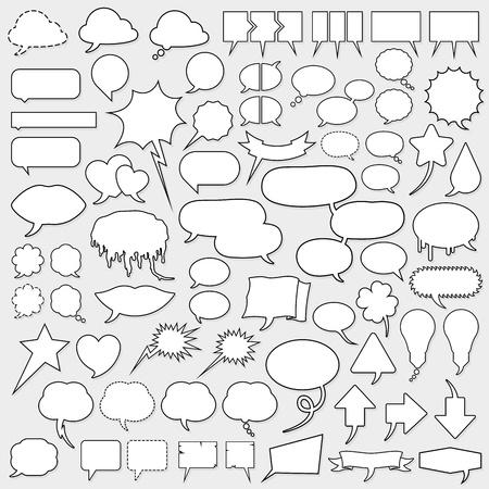 huge cartoon speech bubble set Reklamní fotografie - 10028015