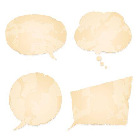 マンガの吹き出し: 音声バブル コレクション ヴィンテージ紙