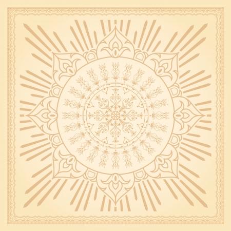 radiating: Calligrafico elemento di design di confine con l'irradiamento delicati motivi floreali sfondo, eps8 vettore Archivio Fotografico