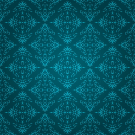 bluey: Beautiful dark bluey green seamless vintage wallpaper design with floral element