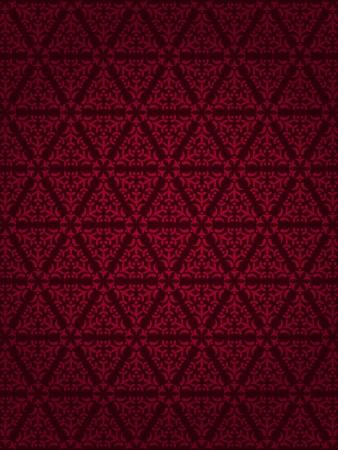 Beau Design Fonce Rouge Papier Peint Vintage Avec Des Elements