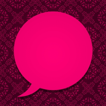 expose: Pink speech bubble border frame on textured background
