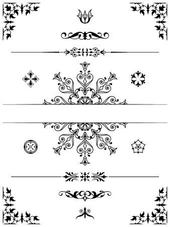 corner border: set of ornament dividers design elements corners