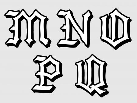 Illustration de lettres gothiques de lalphabet en majuscules doodle illustration des lettres de lalphabet gothique esquisser dans les bouchons crits en thecheapjerseys Image collections