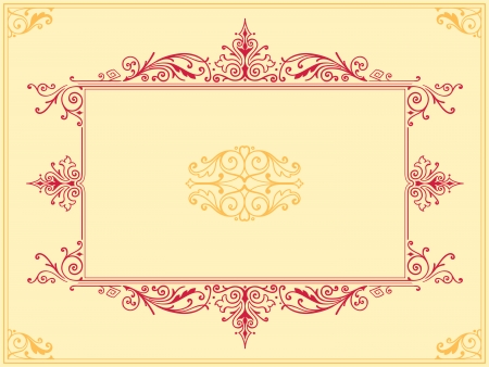 foliate: Collection of intricate symmetrical calligraphic design elements in floral and foliate filigree antique style Stock Photo