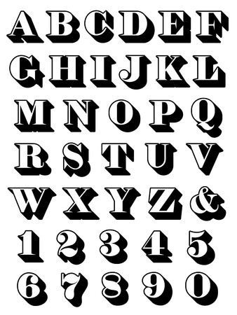 serif: Complete alphabet set uppercase serif Stock Photo