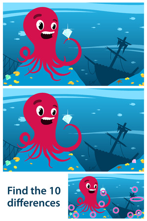 Game to stimulate intuitive learning with octopus