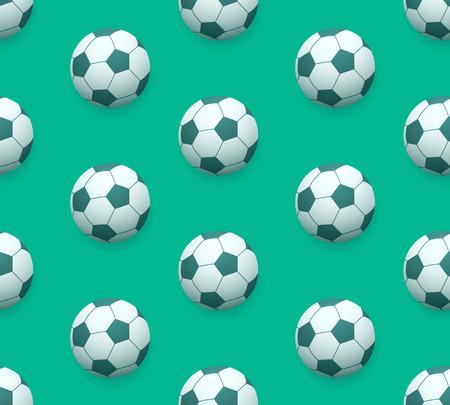 pasto sintetico: patrón de vectores sin fisuras balón de fútbol sobre fondo verde hierba o césped sintético que simula con sutiles conjunto abajo sombra