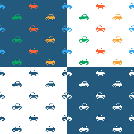 car pattern: Vector image of seamless car pattern over colored background