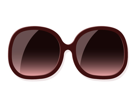 sunglasses isolated: Vector illustration of trendy fashionable woman sunglasses isolated on white
