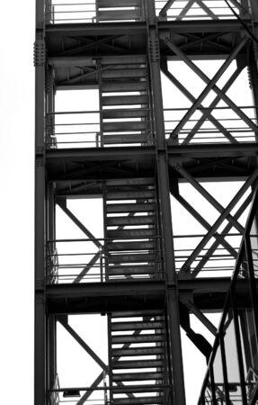 Metallic industrial staircase. Modern architecture. Stock Photo - 1833713