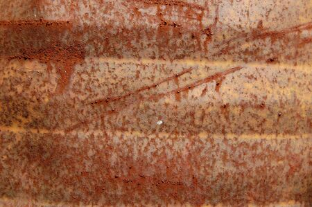 corroding: Rusty metal barrel texture detail. Abstract background. Stock Photo