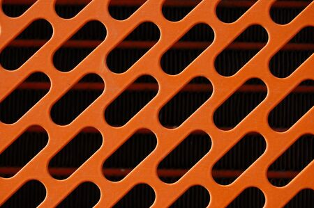 Industrial machinery radiator grill detail. Metal pattern background. photo