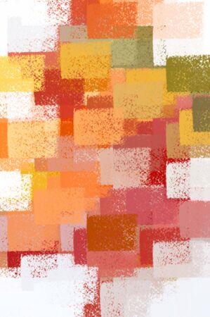 Squares on white background. Abstract brush paint illustration. Stock Illustration - 3469189