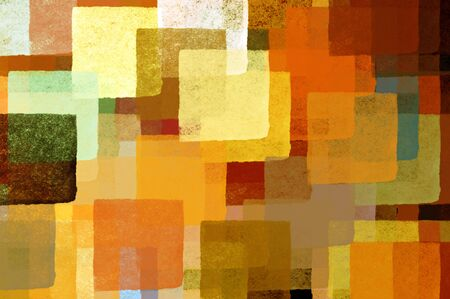Colorful abstract squares illustration. Brush paint background pattern. Stock Illustration - 3494599
