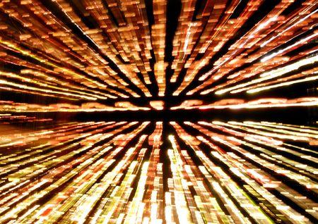 multiple exposure: Esposizione multipla di raggi di luce che brilla attraverso una persiana in un luminoso giorno d'estate. Sfondo astratto. Archivio Fotografico