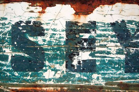 Type stencil on rusty metal surface. Abstract background texture. Stock Photo - 3494600