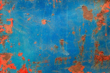 corroding: Metal texture with peeling paint and rust. Abstract background. Stock Photo