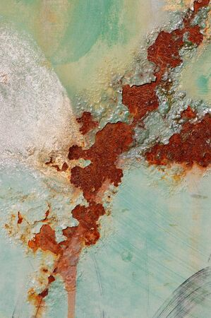 Rusty texture and peeling paint. Abstract background. Stock Photo - 4325618