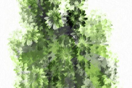 Abstract grunge floral background pattern. Digitally created illustration. Stock Illustration - 5484528