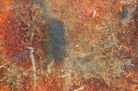 corroded: Rusty metal sheeting surface. Abstract industrial texture.