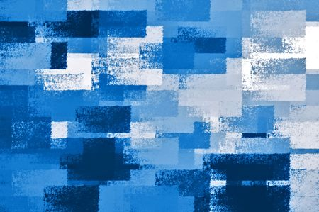 Abstract chalk strokes background illustration. Shades of blue. Stock Photo
