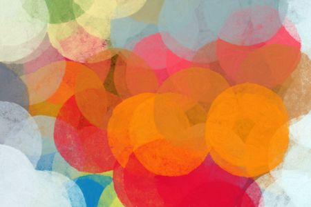Circles abstract illustration. Brush paint colorful background pattern. Stock Photo