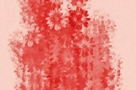 Daisies grunge floral pattern. Digitally created illustration. Stock Illustration - 7359274