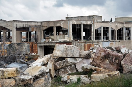 Old marble processing factory.