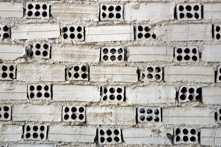 Weathered white brick wall texture background. Stock Photo - 8106760