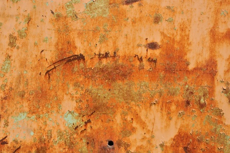 Rusty peeling metal surface. Abstract industrial texture. Stock Photo - 8316582